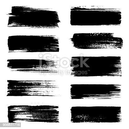 Set of brush strokes