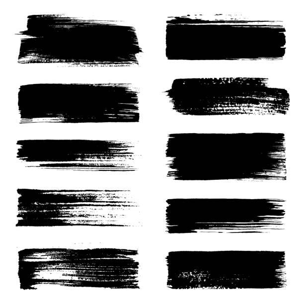 pociągnięcia pędzlem - farba stock illustrations