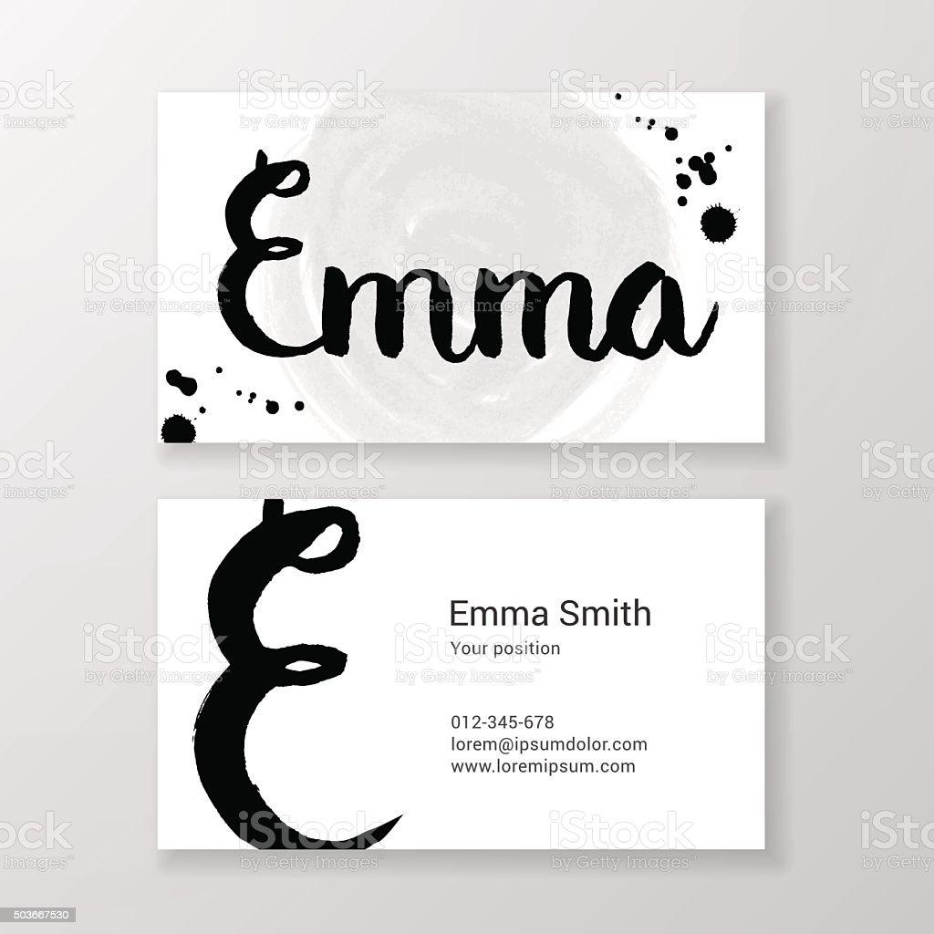 Gratte Emma Nom De Lettre Manuscrite Modele Carte Visite Professionnelle