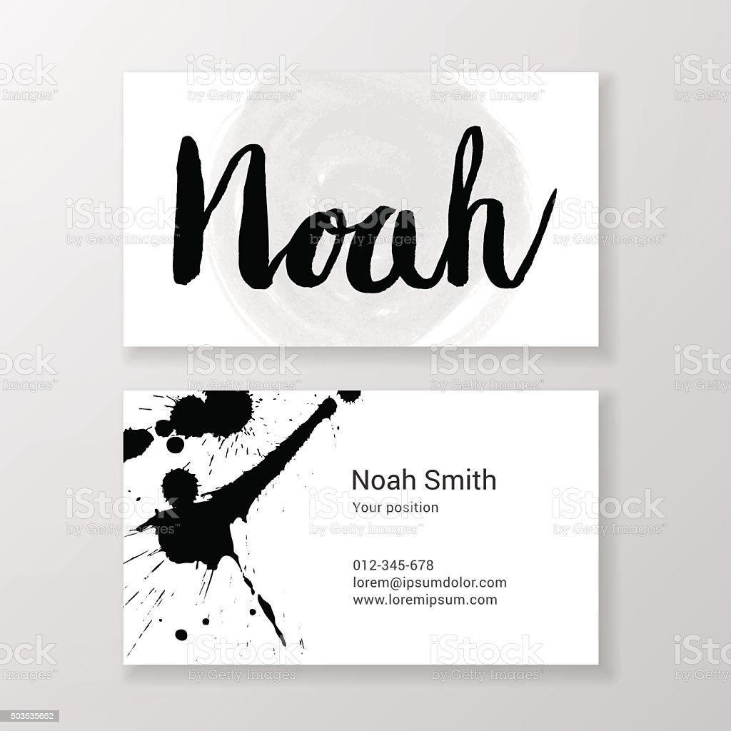 Bross Noah Nom De Lettre Manuscrite Modle Carte Visite Professionnelle