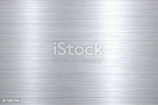 istock Brushed metal background 611067250