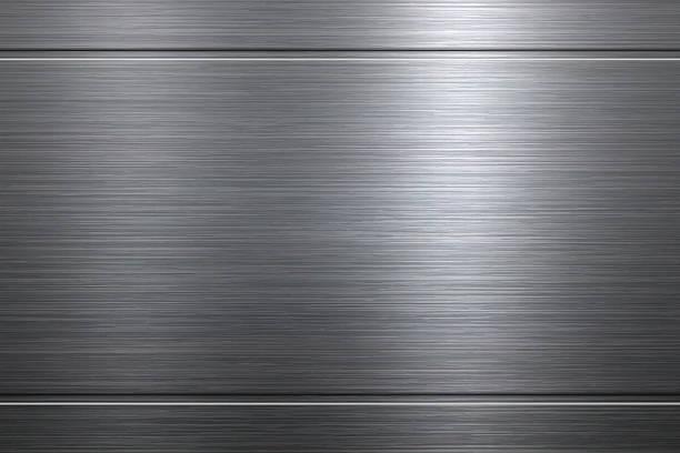 Brushed metal background vector art illustration