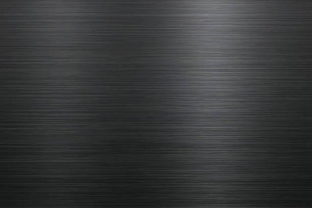브러쉬드 메탈 배경기술  - 검정 stock illustrations
