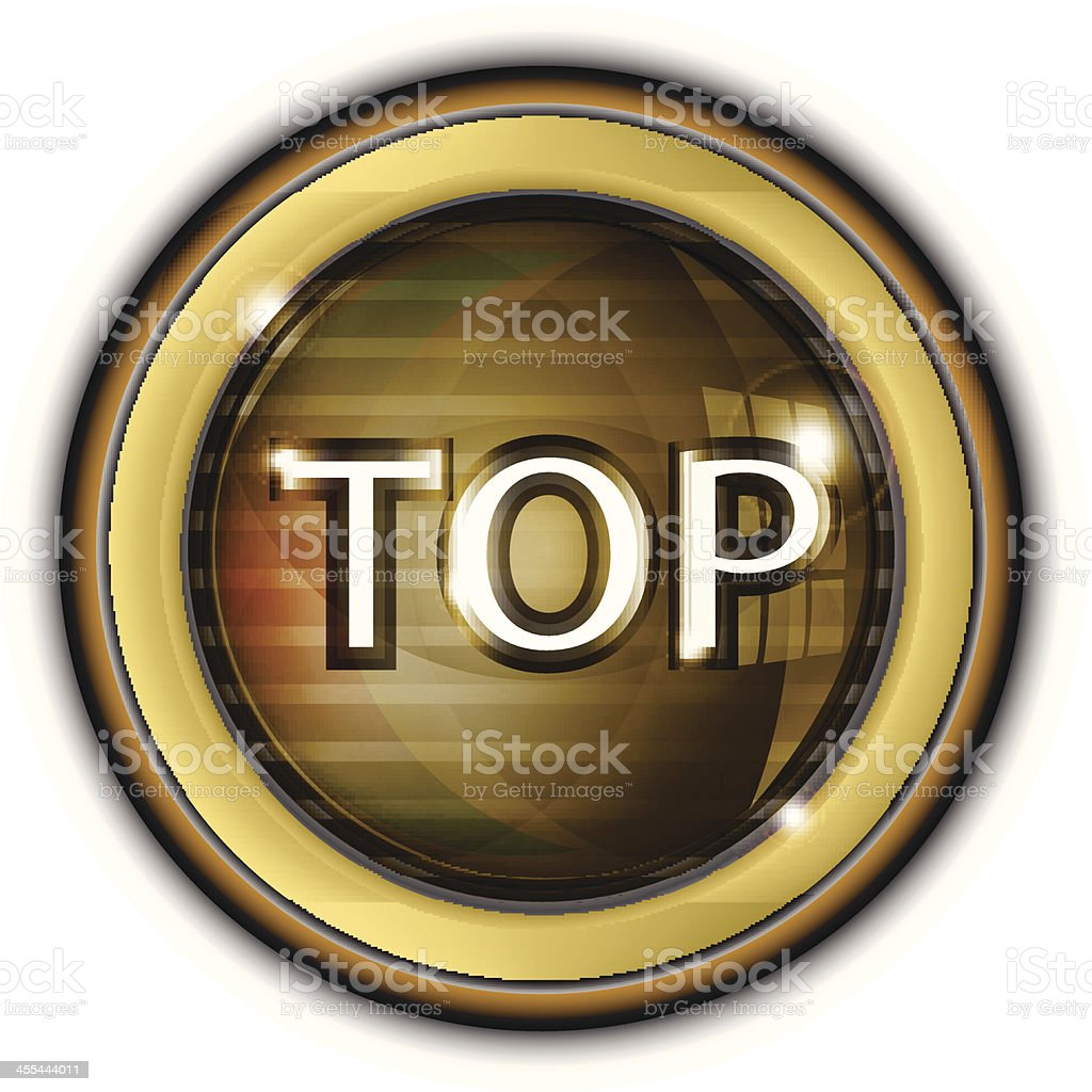 Brushed Metal Button | Top royalty-free stock vector art