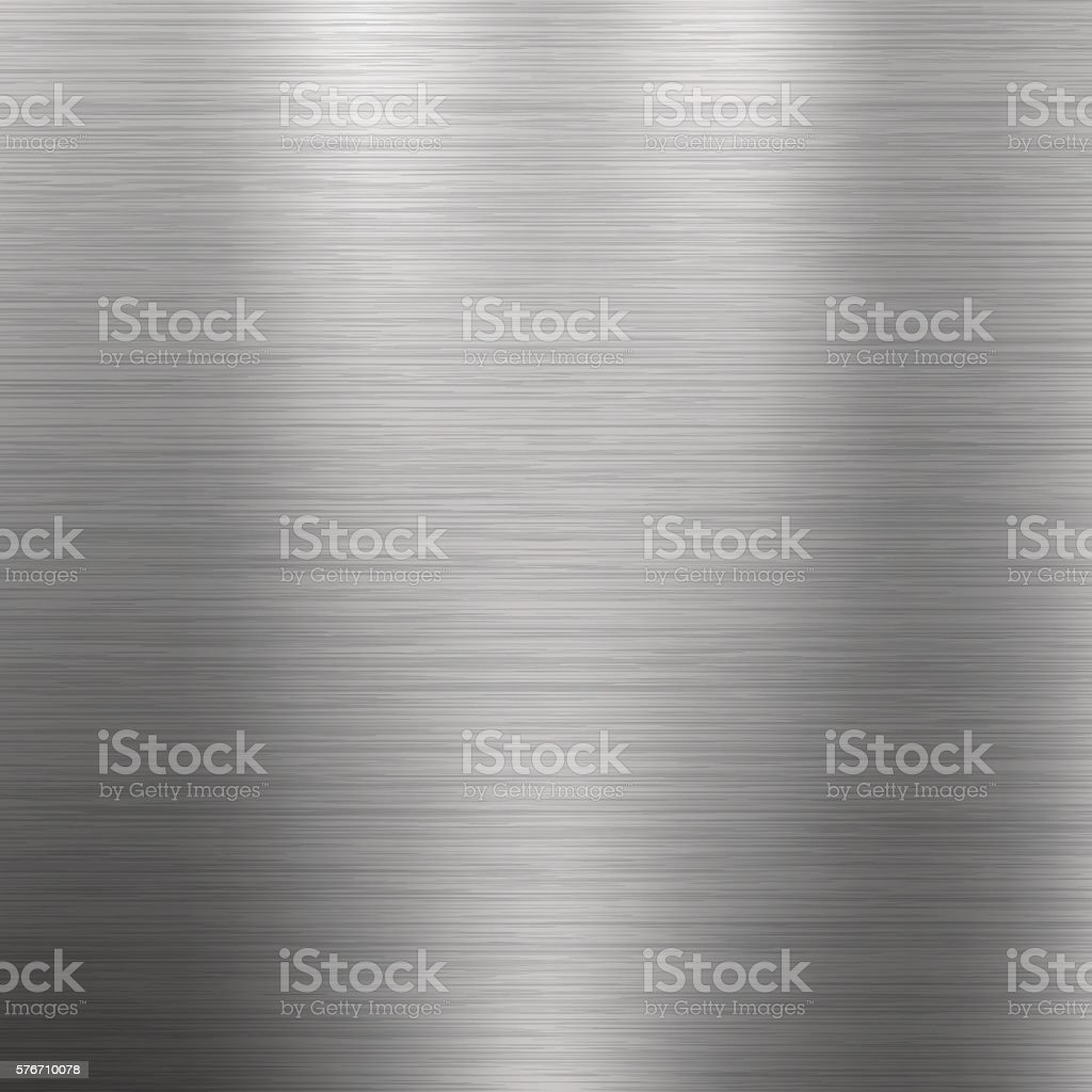 Brushed metal texture. Gray vector abstract background. Steel or Aluminium.向量藝術插圖