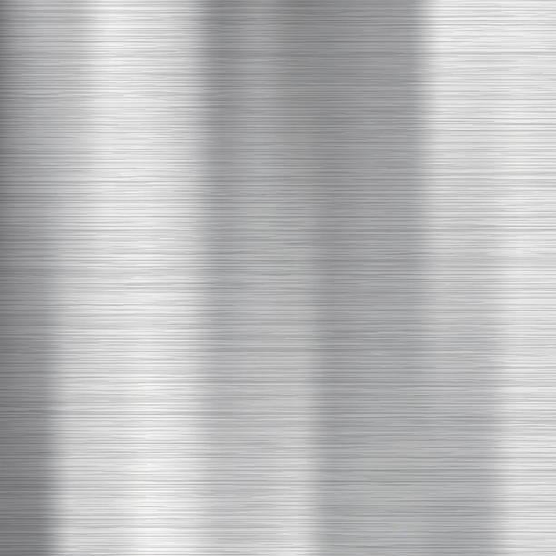 Brushed metal texture. Gray vector abstract background. Steel or Aluminium.向量藝術插圖