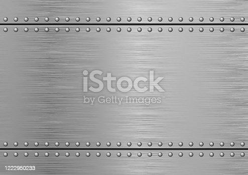 istock Brushed Metal 1222950233