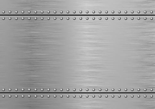 Gray Textured Metallic Background. Brushed Metal