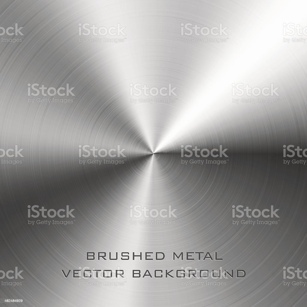 Brushed metal vector art illustration