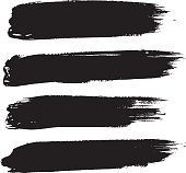 Set of black strokes isolated on white