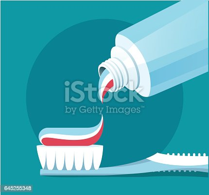 istock Brushing Teeth. Closeup of toothpaste coming out of a tube. 645255348