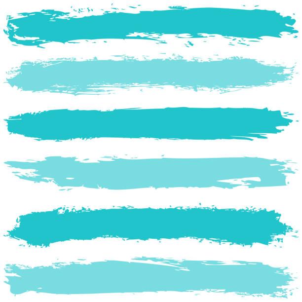 Pinselstrich mit Pinsel auf weißem Hintergrund. – Vektorgrafik