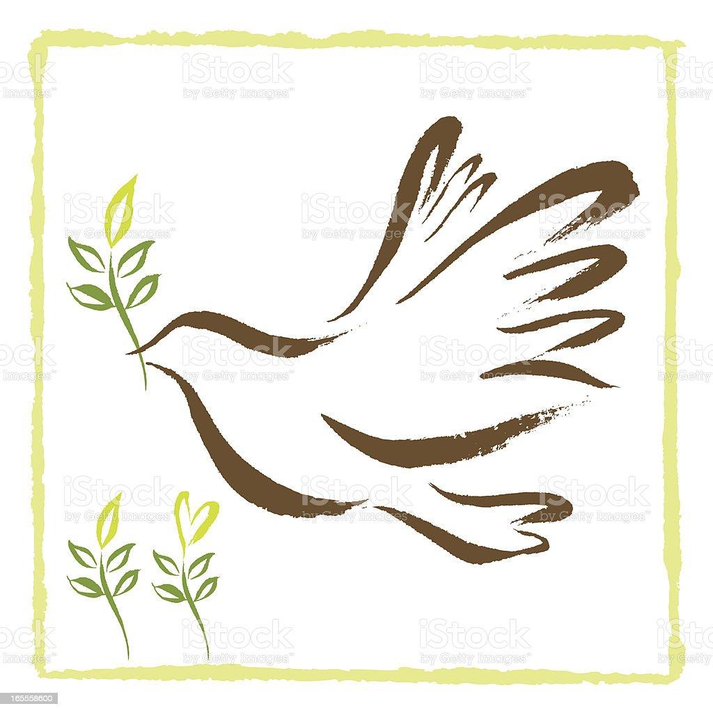 Brushstroke Dove royalty-free brushstroke dove stock vector art & more images of animal