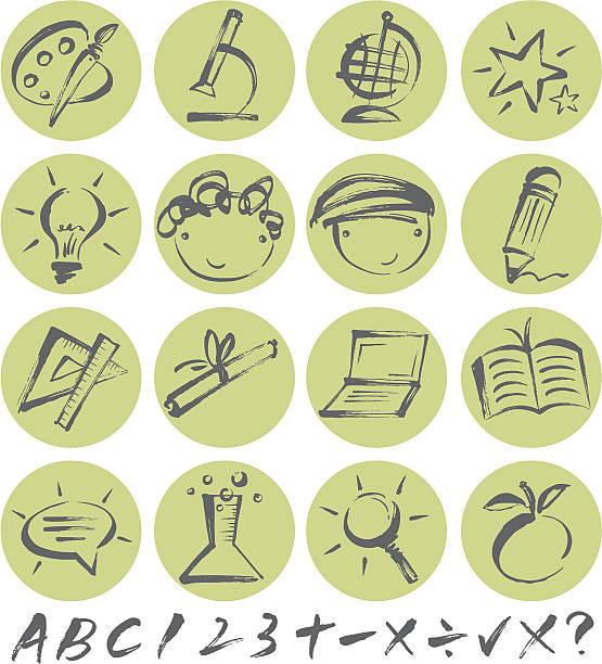 Brushstroke Education Icon vector art illustration