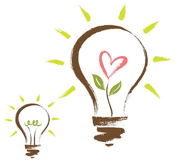 Brushstroke Light Bulb vector art illustration