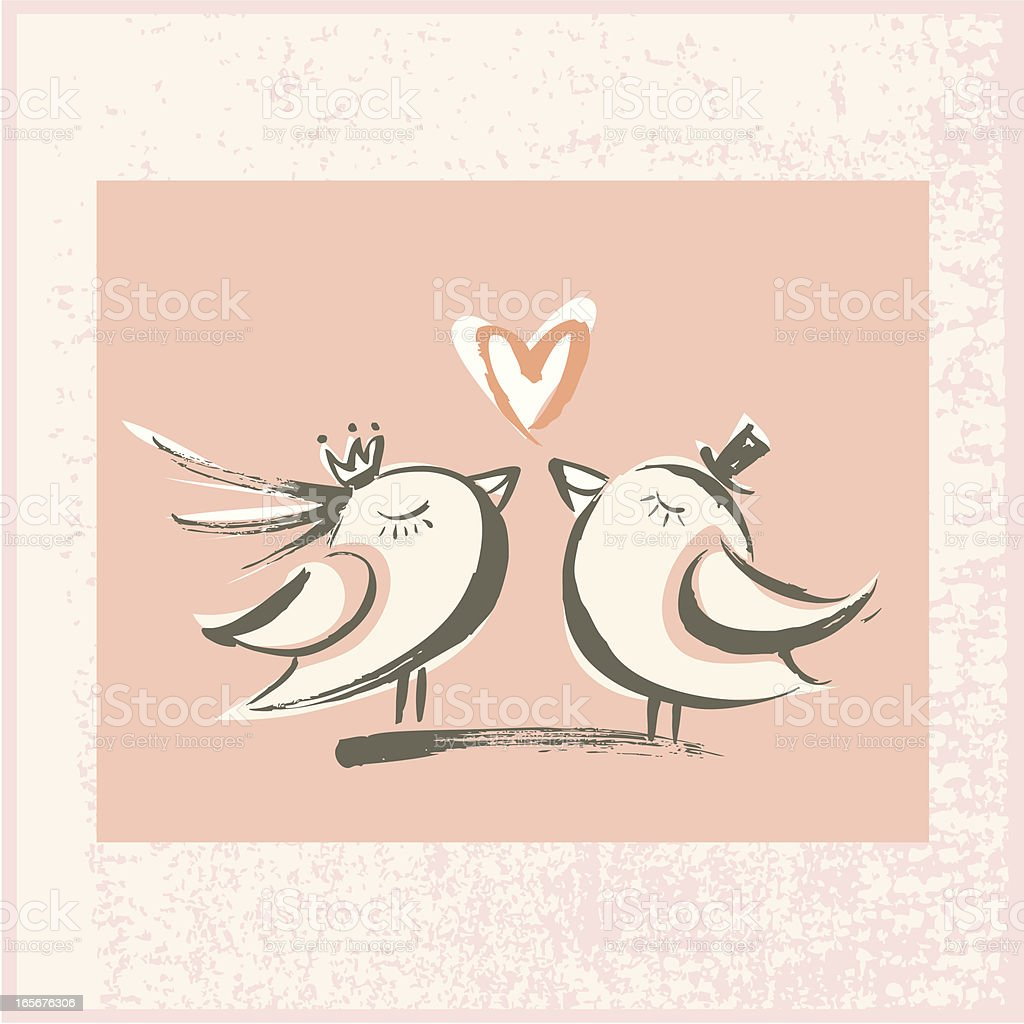 Brushstroke Love Birds royalty-free brushstroke love birds stock vector art & more images of adult