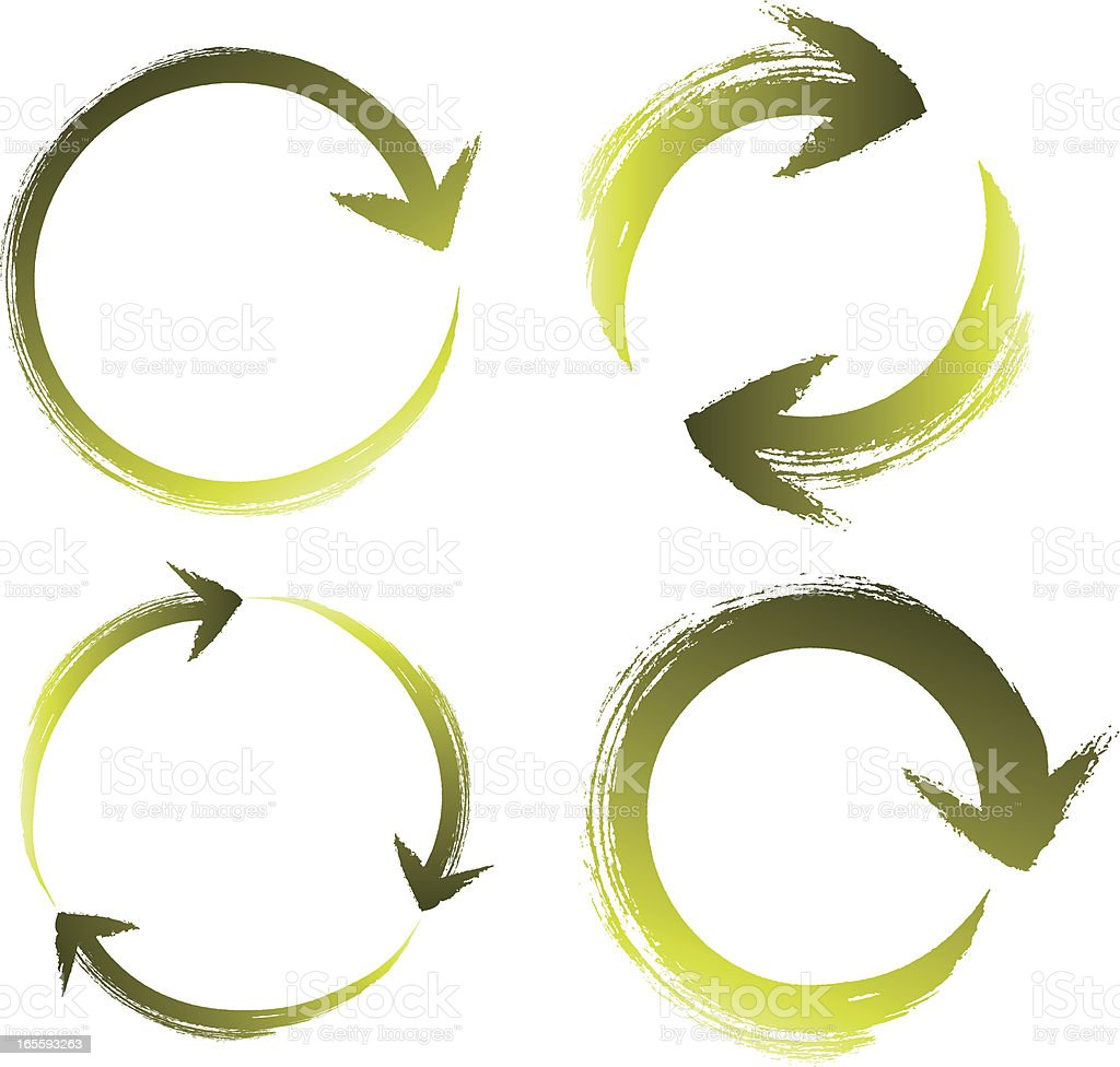 Brushstroke Recycle icons royalty-free brushstroke recycle icons stock vector art & more images of arrow symbol