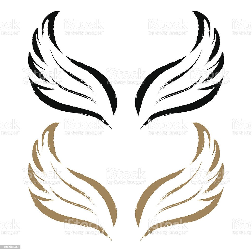 Brushstroke Wing vector art illustration