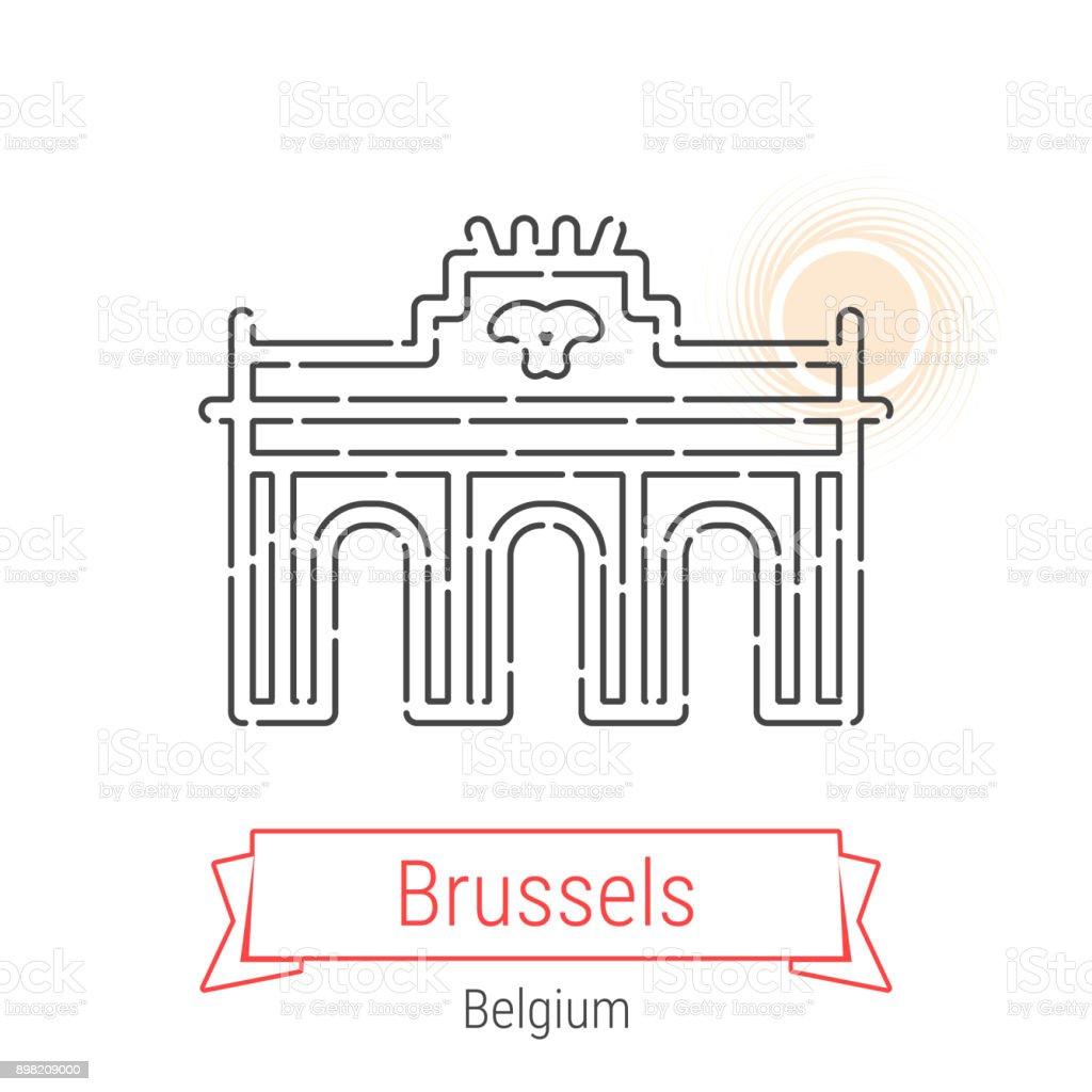 Bruxelles Belgique Vecteur Ligne Icone Cliparts Vectoriels Et Plus