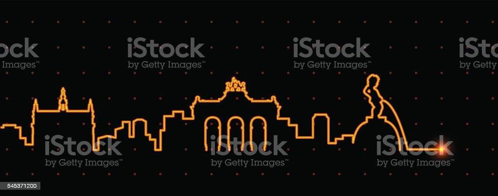 Brussels Light Streak Profile - ilustración de arte vectorial