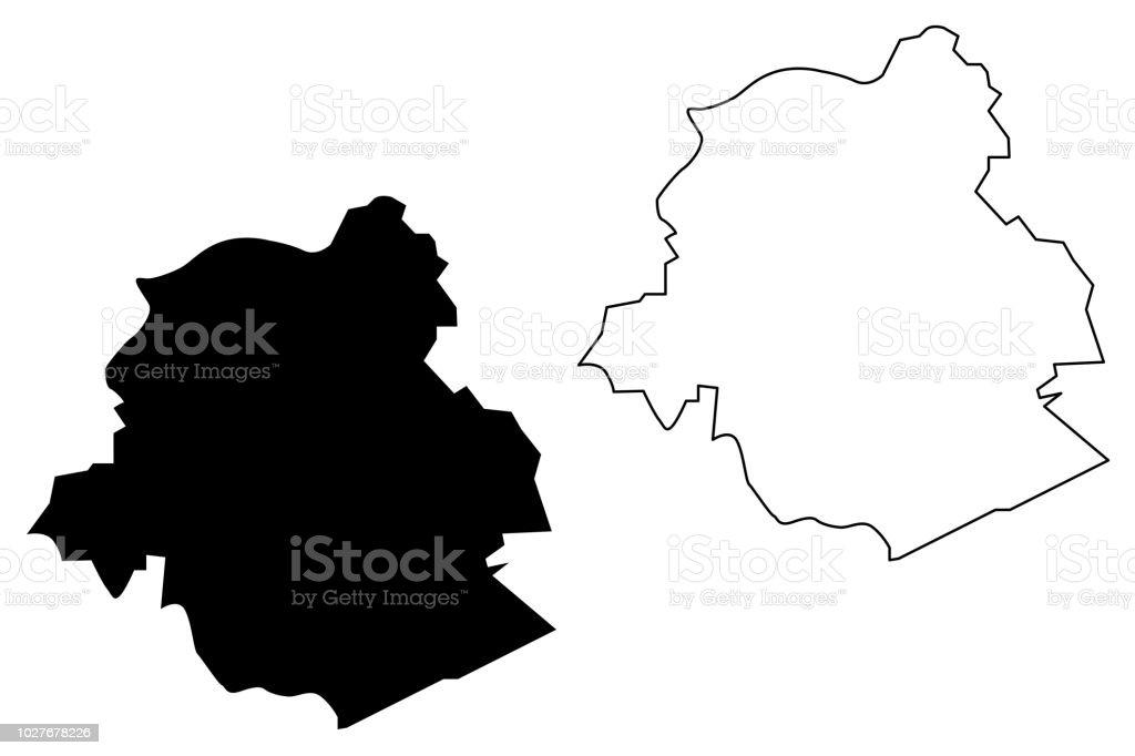 Bruselas mapa vector - ilustración de arte vectorial
