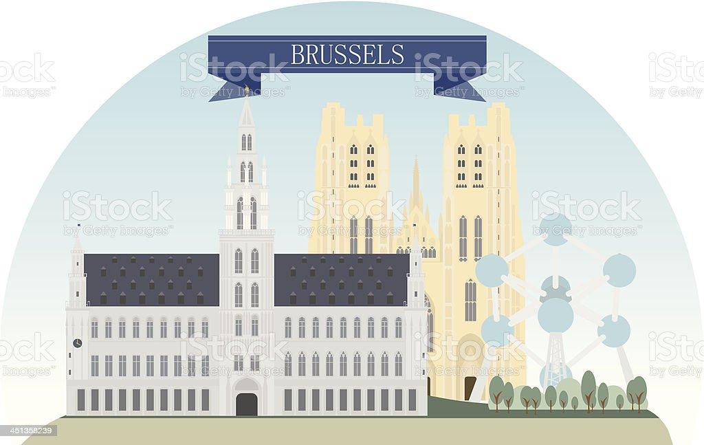 Bruselas - ilustración de arte vectorial