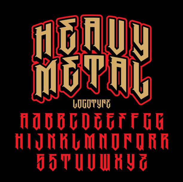 Brutal font vector art illustration