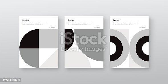 istock Brutalism Design Vector Cover Mockup 1251416465