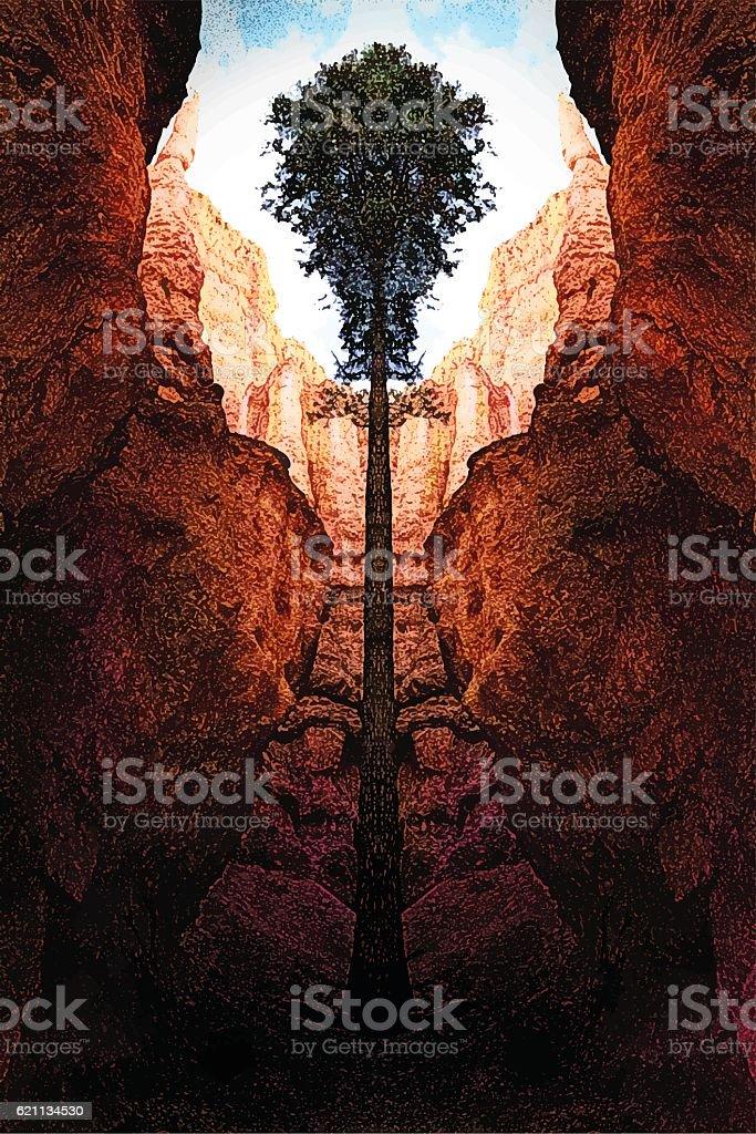 Bryce Canyon National Park vector art illustration