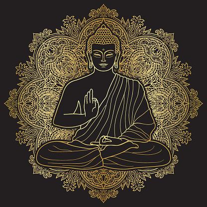 Bubbha Sitting in Lotus position