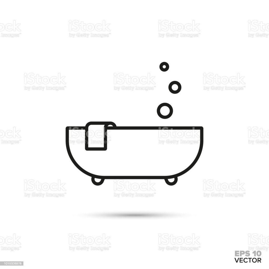 Bubble bath vector icon. vector art illustration