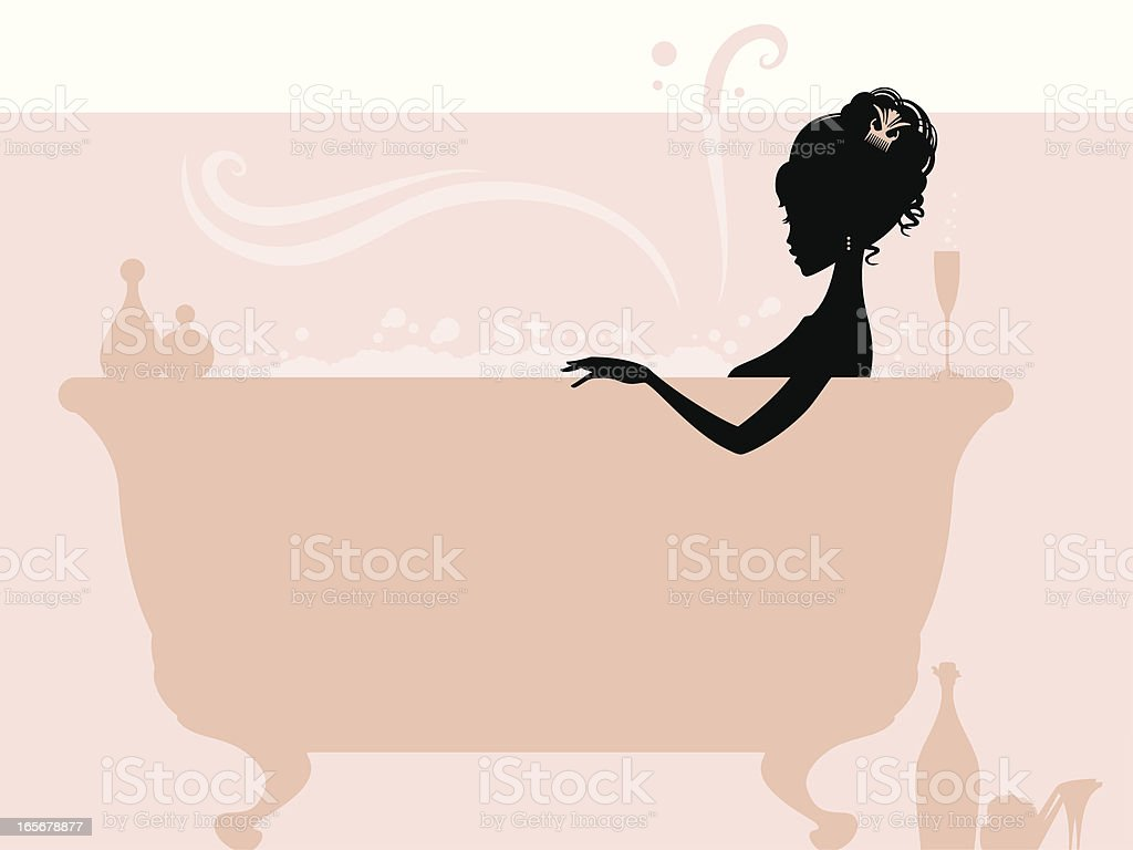 Bubble bath vector art illustration