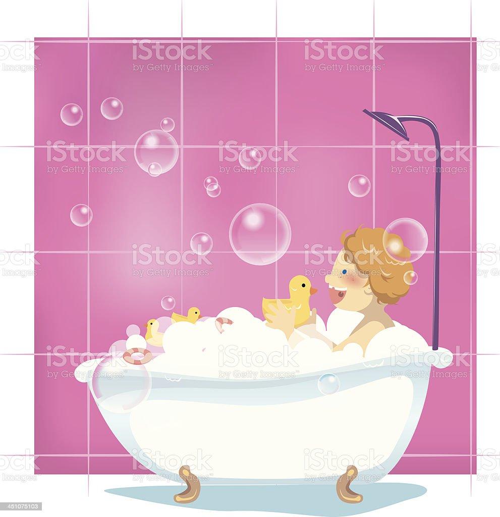 Bubble Bath vector art illustration