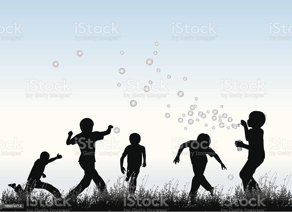 Bubble Fun vector art illustration
