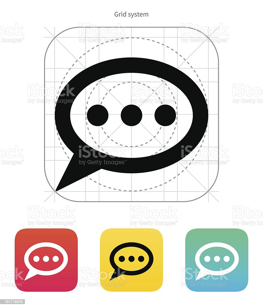 Bubble icon. Vector illustration. royalty-free stock vector art
