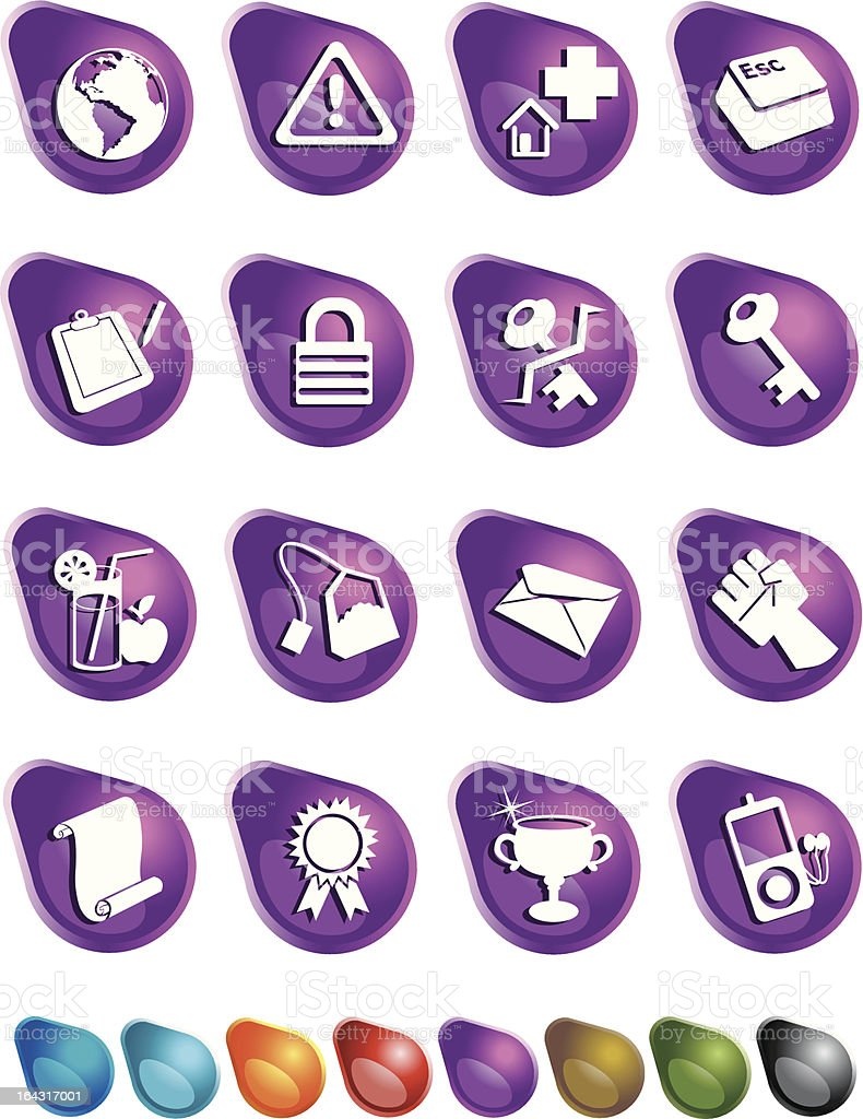 Bubble Icons: Web / assorted royalty-free stock vector art