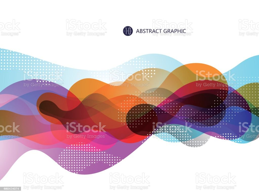 Bubble like abstract graphic design, background. vector art illustration