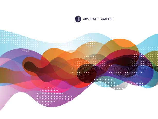 bubble like abstract graphic design, background. - насыщенный цвет stock illustrations