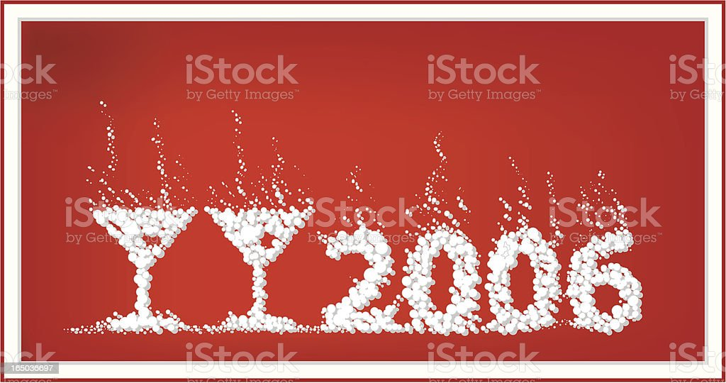 Bubble new year 2006 royalty-free stock vector art