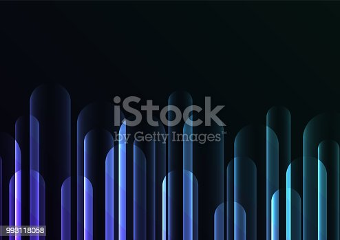 bubble rush overlap in dark background, bar layer backdrop, simple technology template, vector illustration