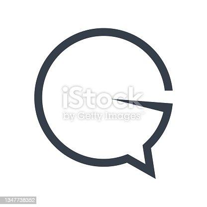 istock bubble speech symbol illustration 1347738352