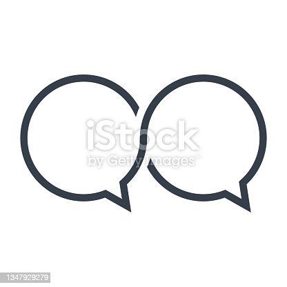 istock bubble speech symbol illustration 1347929279