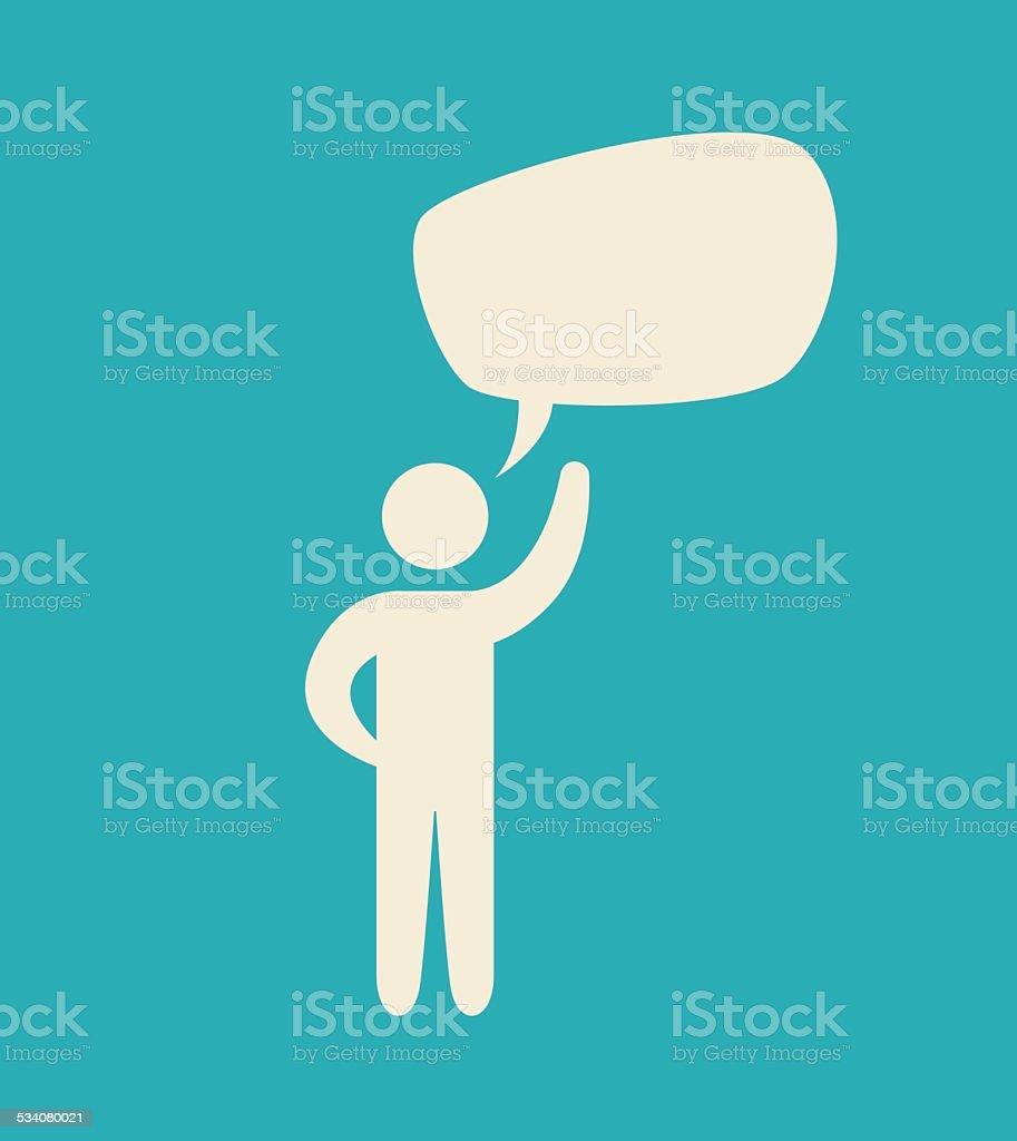 bubble speech vector art illustration