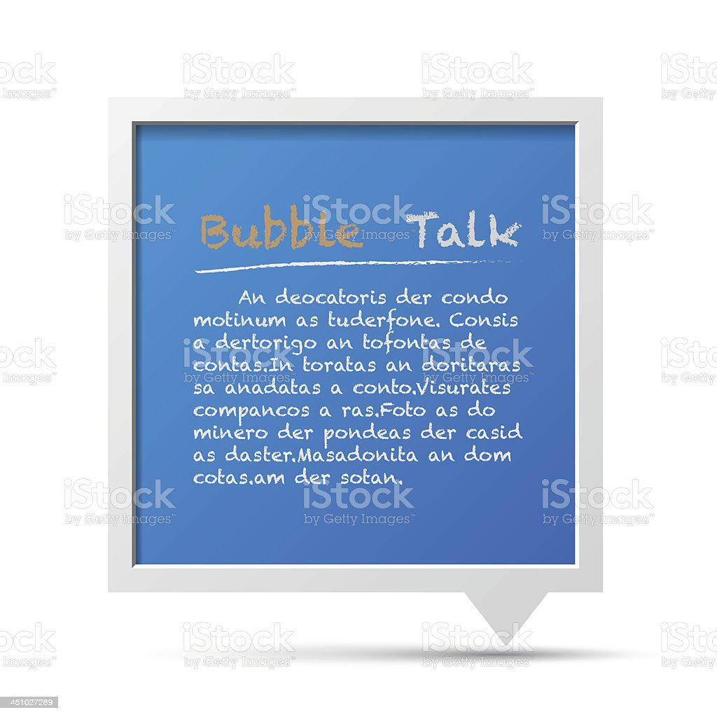 3D bubble talk frame. royalty-free 3d bubble talk frame stock vector art & more images of abstract