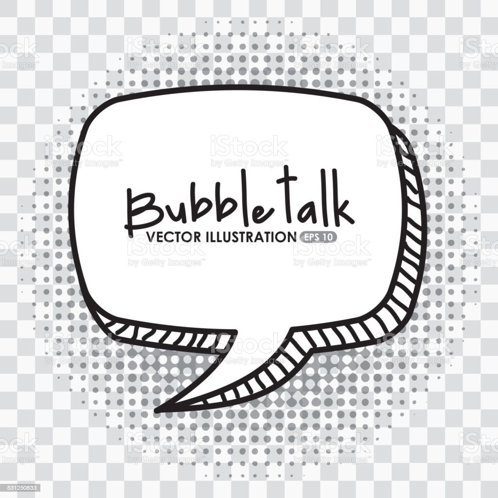 bubble talk vector art illustration