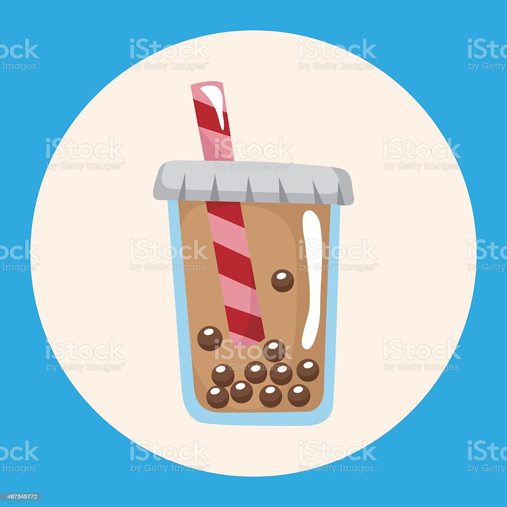 bubble tea drink theme elements vector art illustration