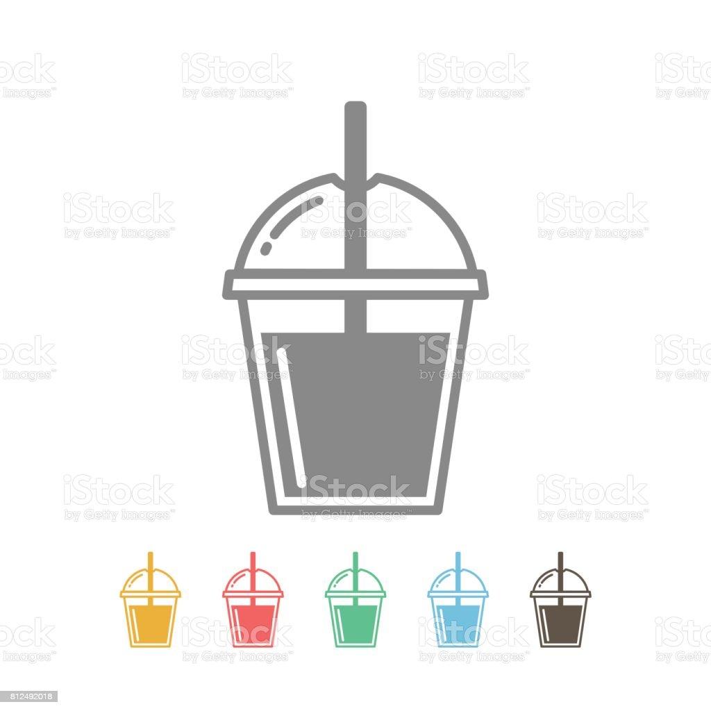 Bubble tea icon vector vector art illustration