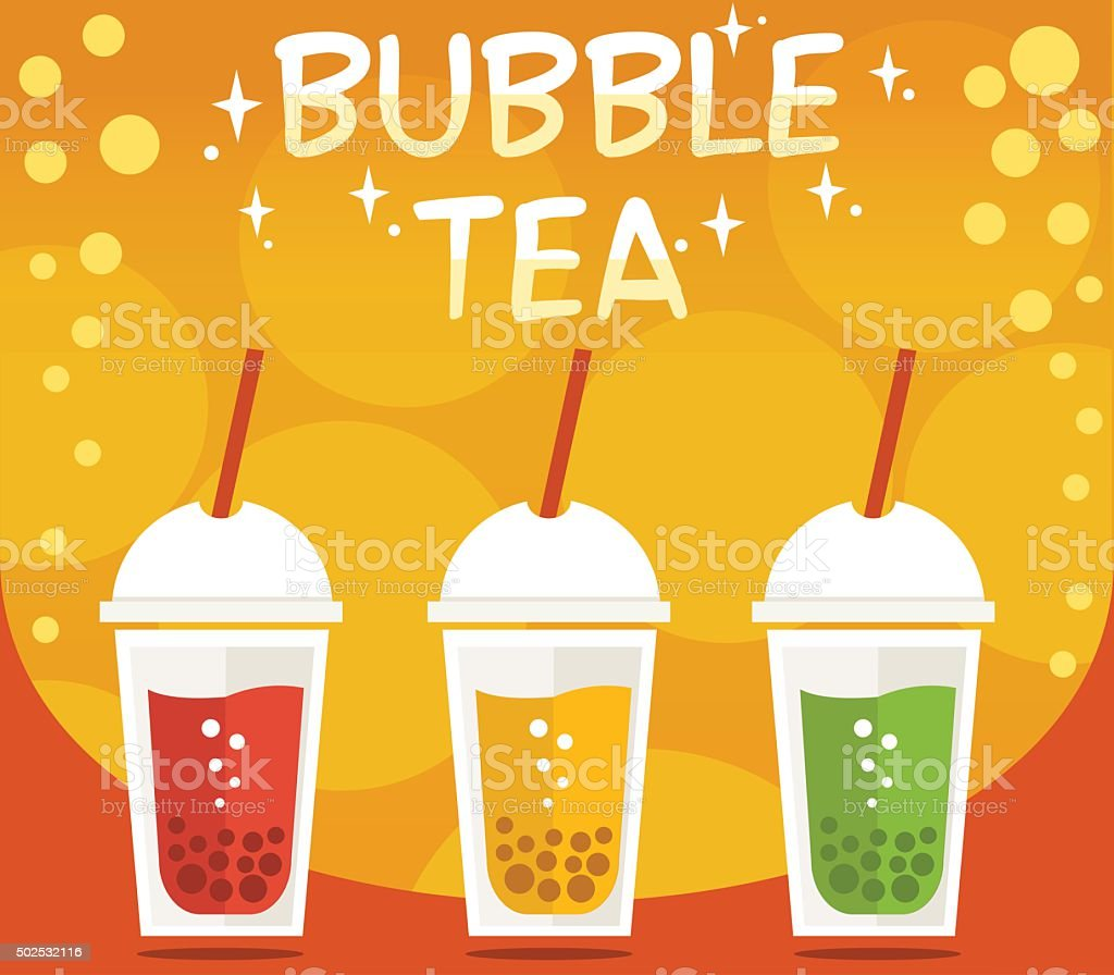 Bubble tea vector art illustration