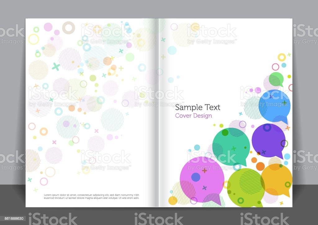 Bubbles Cover design vector art illustration