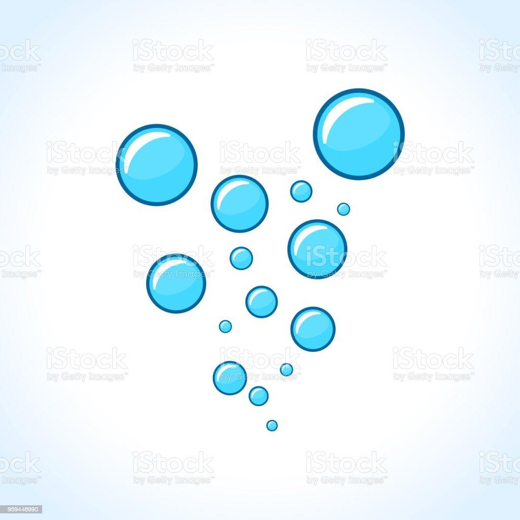 白色背景下的氣泡設計 - 免版稅乾淨圖庫向量圖形